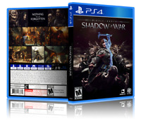 Middle-Earth: Shadow of War - Replacement PS4 Cover and Case. NO GAME!!