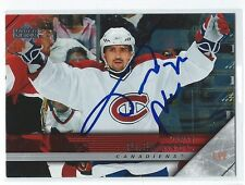 Tomas Plekanec Signed 2005/06 Upper Deck Card #351 Full Signature
