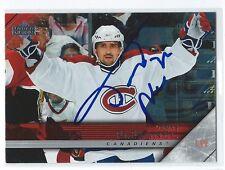 Tomas Plekanec Signed 2005/06 Upper Deck Card #351 Full Signature