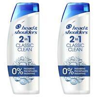 2 Head & Shoulders Anti-Dandruff 2-In-1 Shampoo Conditioner Classic Clean 225ml