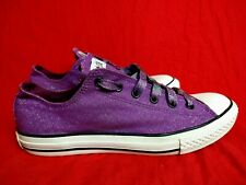 Converse All Star Women 6 Purple Glittery Sparkly Sneaker Shoes