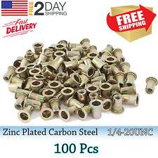 30 Rivet Nut Flat Head 20unc Rivnut Insert Nutsert Zinc Plated Stainless Steel