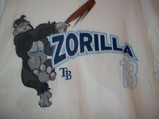 Ben Zobrist #18 ZORILLA Tampa Bay Rays White Collectable T-shirt Jersey XL~EUC