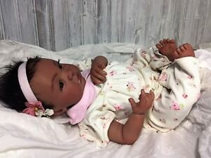 """Reborn Biracial """"Sheliah""""-Baby Doll Therapy for Kids, Memory Loss, Special Needs"""