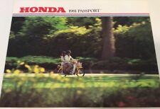 PASSPORT Honda Original Sales Brochure  1981    Scooter Moped Motorcycle