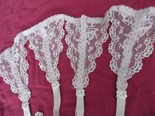 Glydons Hollywood Nude Lace Garter Belt 24/25 waist Small / Medium Bow Clips