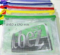 Lebez 3015 busta in PP trasparente e rete con Zip colorata