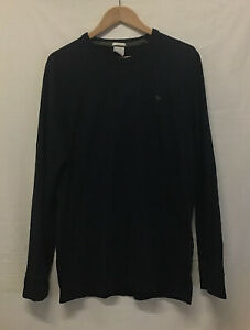 Abercrombie & Fitch Men's Jumper Black Muscle Slim Fit Sweater Size L