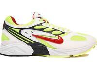 NEW* Nike Air Max Ghost Racer Size 9 Men White Atom Red Neon Yellow nike running