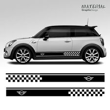 Mini Cooper S One Car Side Stripes Graphics Stickers Decals - Transfer Clubman