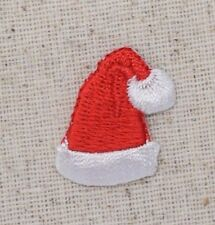 Small/Mini - Christmas Red Santa Claus Hat - Iron on Applique/Embroidered Patch