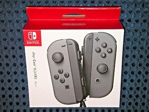 NEW Nintendo Official Switch Joy-Con Gray L/R SET for Console System JAPAN F/S