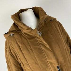 Junge Danmark Long Sleeved Brown Coat With Hood Size 10