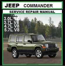 JEEP COMMANDER XK 2006 2010 MB 3.0LTD 3.7L 4.7L 5.7LWorkshop Repair Manual CD