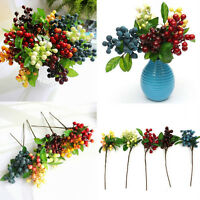 Artificial Berry Silk Flower Leaf Bouquet Home Party Wedding Garden Decor LJ