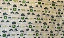 Nothing Runs Like a John Deere Tractor Flat Sheet Twin Size Fabric Cutter Quilt