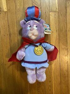 "Vintage 15"" Disney 1985 GUMMI BEARS Zummi Plush Applause w/ Tag & Gold Medallion"