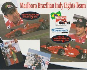 1997 Tasman Motorsports Group Marlboro Indy Lights Hero Card CASTRONEVES KANAAN