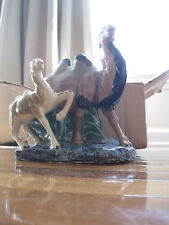 1960s Porcelain/Ceramic Camel Mother and Child Very Beautiful Detailed Colorful