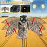 Solar Moving Wings Fake Owl Scare Decoy Pest Repellent Birds Garden Yard
