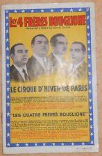 Programme Cirque d'Hiver de Paris – « Les Quatre Frères Bouglione »