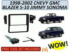 Double Din Dash Kit w/ HARNESS 1998-02 Chevrolet Blazer S-10 GMC Jimmy Sonoma