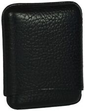 MARTIN WESS CARIBOU BLACK COWHIDE/ GOATSKIN LEATHER CIGARILLO CASE ** NEW **