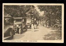 West Africa France Senegal DAKAR Jardin de Hanu Cars c1920s? PPC