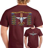 The Parachute Regiment Battle Honours T-Shirt 1 2 3 4 10 Para Cap Badge Paras
