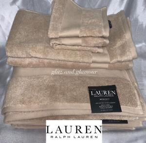 Ralph Lauren Towels Wescott Weathered Stone (Beige) 6pc Set~2 Bath+2 Hand+2 Face