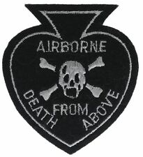 Airborne Death From Above Spade 3 Inch Cap Hat Embroidered Patch F1D21D