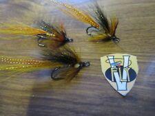 3 V Fly Taglia 6 Ultimate CAMPER ORO CORPO Willie Gunn Doppio Salmone Mosche