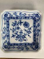 """Vintage Meissen Square Blue Onion Dish 6"""""""