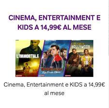 Codice Sconto NOW TV TUTTO INCLUSO in HD Cinema Serie Tv Intrattenimento Kids