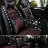 5D Auto Car PU Leather Seat Cover 5-Seats Luxury Protector Cushion Full Set US