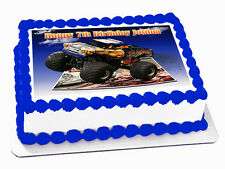 MONSTER TRUCK 3D EFFECT REAL EDIBLE ICING CAKE IMAGE TOPPER FROSTING SHEET