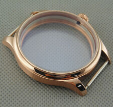 Parnis 44mm watch case rose gold sterile for 6497 6498 Seagull movement 002