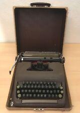 REFURBISHED Smith Corona Sterling 1950's Typewriter w/case + NEW RIBBON works!