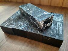 Stabilized bog oak (morta) blank for knife handles (size 35 x 49 x 135 mm)