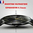 Top Montre Minimaliste Ultra Fine pour Homme Bracelet en Cuir Mince Acier...