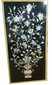30 x 60 Inches Mother of Pearl Art Dining Table Top Elegant Marble Wall Scenery