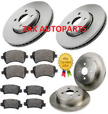 TOYOTA COROLLA 1.8 VVTI T SPORT 2.0 D4D FRONT & REAR BRAKE DISCS AND PADS SET