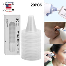 20Pcs Braun Probe Covers Thermoscan Replacement Lens Ear Thermometer Filter Caps