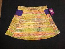 NWT Soybu women's multi-colored Horizon print fitness/workout tennis skirt Sz XL