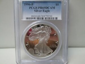 1996 P American Eagle Silver Dollar Proof PCGS PR69 DCAM