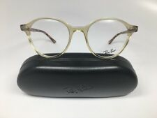 🔹New Authentic Ray-Ban RB7118 8021 Clear Yellow & Havana Eyeglasses 50mm w/Case
