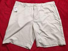 Izod Size 42 Mens Shorts Khaki Luxury Sport Flat Front NWT
