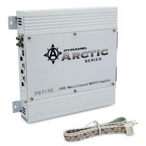 Pyramid PB717X Arctic Series 1000W 2 Channel Class AB Car Audio Mosfet Amplifier
