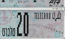ISRAEL BEZEQ BEZEK PHONE CARD TELECARD 20 UNITS OLD RARE