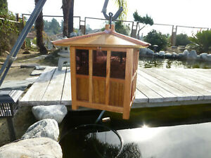 Koi Pond Fish Feeder Handmade Wooden Model On Demand Koi Feeder Kichi Koi Buffet